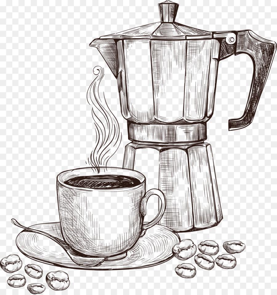 فنجان قهوة عربية رسم