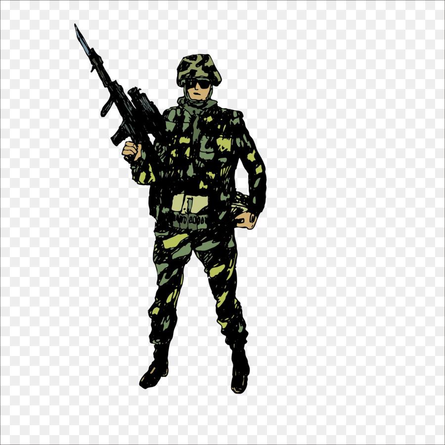 جندى سعودي رسم كرتون