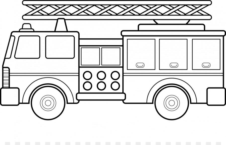 رسم سيارة اطفاء الحريق