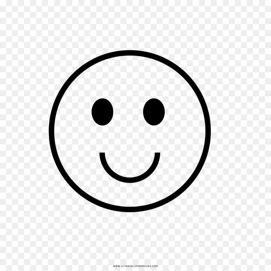 وجه مبتسم للتلوين