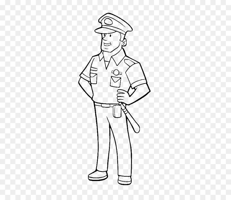 الرسم ضابط شرطة كتاب تلوين صورة بابوا نيو غينيا