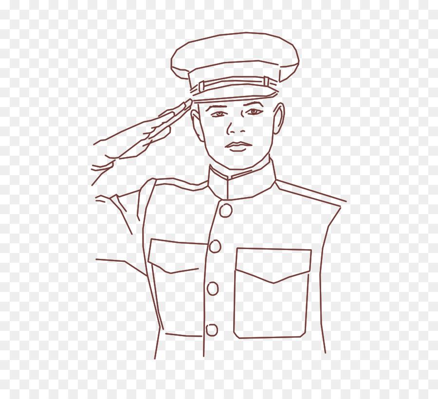 جندي تحية عسكرية رسم